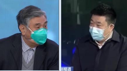 中共国家卫健委高级别专家组成员曾光(左),武汉市长周先旺(右)