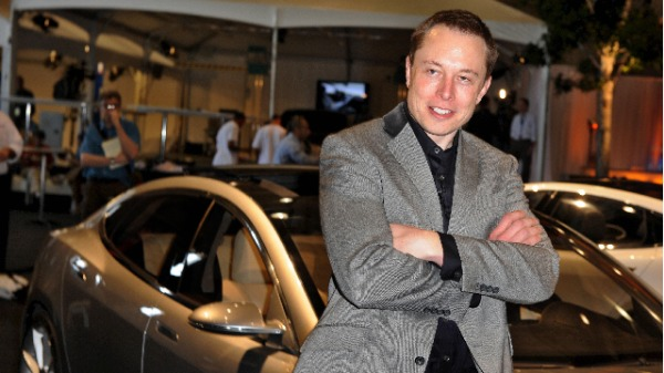 特斯拉首席执行官马斯克(Elon Musk)(ROBYN BECK/AFP/Getty Images)