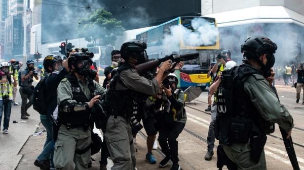 2019年9月29日港警发射催泪弹