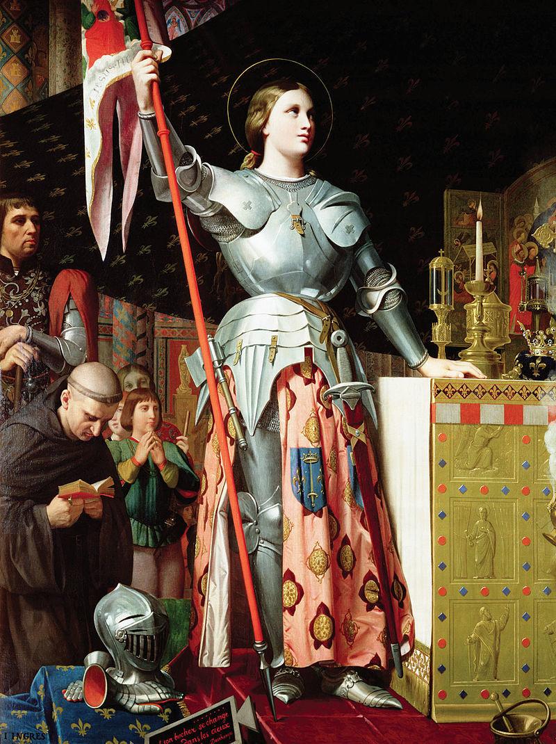 聖女貞德在查理七世的加冕典禮上。