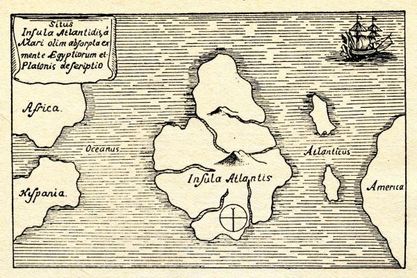 至今,学术界关于亚特兰蒂斯地理点,有几个说法。