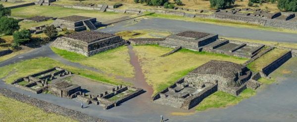 墨西哥的特奥蒂瓦坎古城遗址。