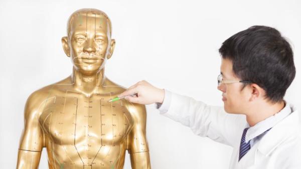 """中医理论中的""""经络""""和""""穴位""""逐渐在精密的科技仪器下被人们接受了。"""