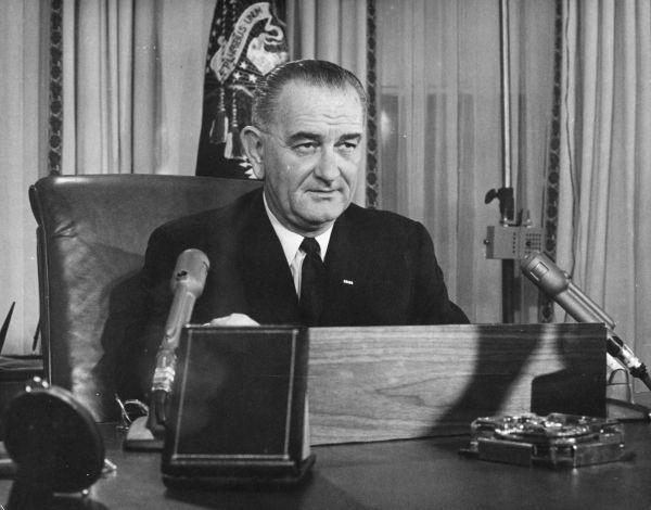 美国第36届总统林登・詹森。