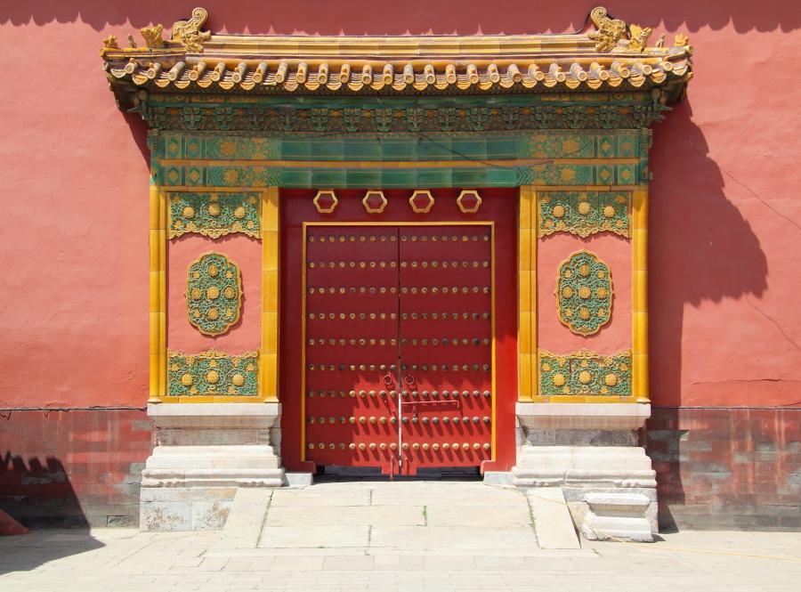故宮的門採用了等級最高的九路門釘。