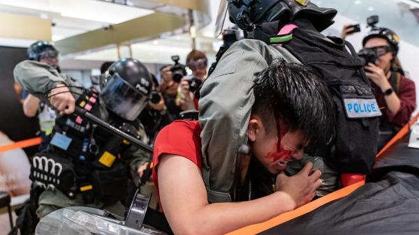 香港反送中抗争运动资料照。