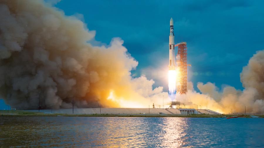 航天火箭。