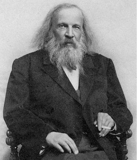 俄罗斯化学家门捷列夫。