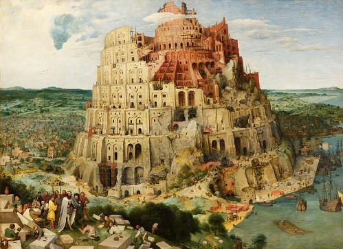 文艺复兴时期的画家老彼得・勃鲁盖尔所画的《巴别塔》。