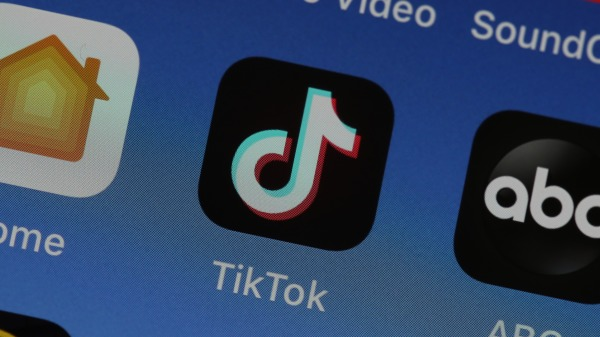 TikTok手機APP(圖片來源:Justin Sullivan/Getty Images)