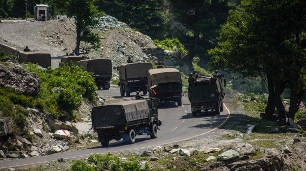 2020年6月19,印度军队前往中印边境。