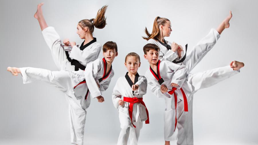 跆拳道是一种揉合韩国古代搏击防身技巧的武术。