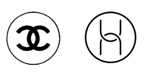 华为旗下电脑硬件的商标(右)因与法国精品香奈儿的双C商标(左)极为相似。